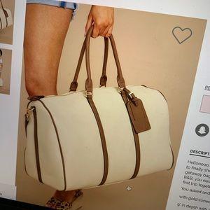 Cream Carry on Bag